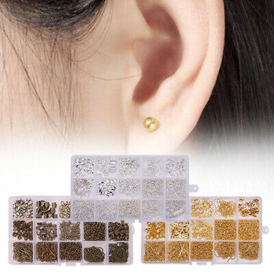 Earring Hooks DIY Accessories With Storage Box Bead Caps Jewelry Findings Set
