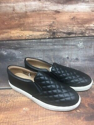 Women's Reese Quilted Sneakers A New Day Black Slip-on Comfy Casual Shoes Sz 11