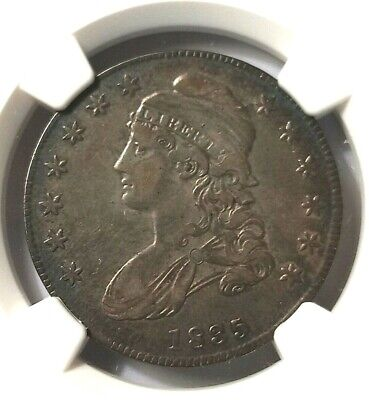 NGC VF 35 1835 50 Cent CAPPED BUST LETTERED EDGE HALF DOLLARS