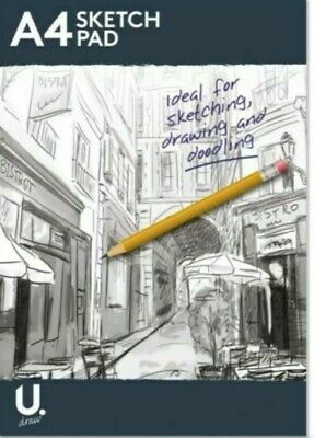 A4 Sketch Pad Bright White Paper Artist Sketching Drawing Doodling Art P1006