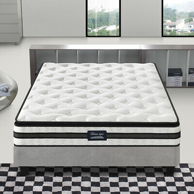 Mattress Queen Double King Single Pocket Spring Firm Foam Full Size Ergonomics