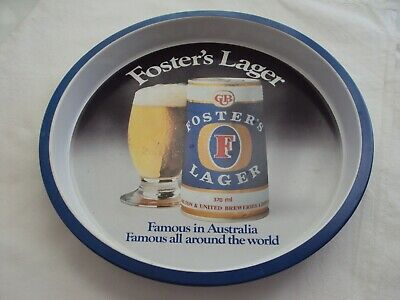 Vintage Fosters Lager Drinks Tray Retro Collectable Bar Mancave Tin