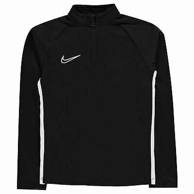 Nike Academy Mid Layer Drill Training Top Juniors Black/White Football Soccer