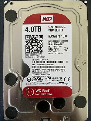 "Western Digital Red WD40EFRX 4TB 3.5"" SATA 64MB Internal Desktop Hard Drive"
