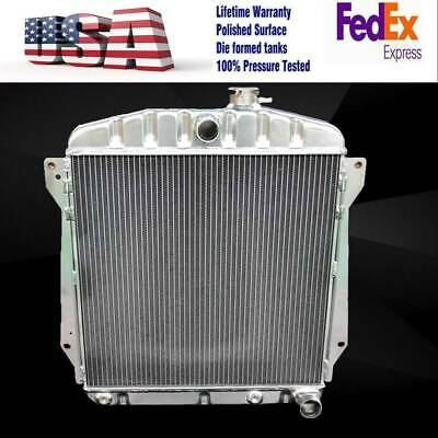 New KKS 3 rows all aluminum radiator 1937-1954 chevy car V8 engines