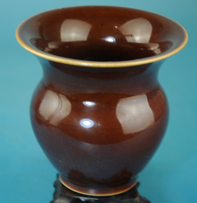 collect chinese old Brown glazed porcelain Handwork vase WanLi Ming /Db01J