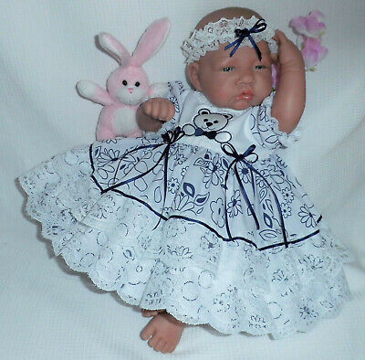 "Rose Frilly Dress Headband 0-3 Month Baby 20-24/"" Reborn Dolls 2045 Dolly Togs"