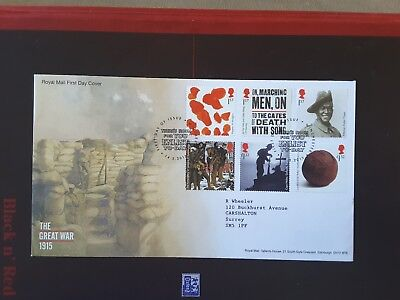 GB 2015 THE GREAT WAR (1915) Fdc WINCHESTER Pmk