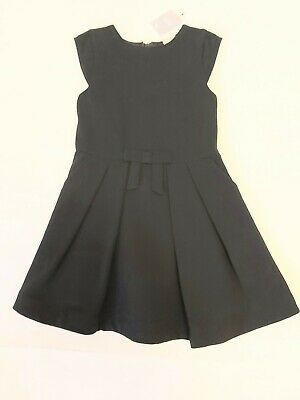 BNWT Girls Warm Lined black Pinafore Dress NEXT age 4 Yrs