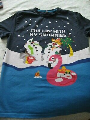 Marks And Spencer Boys Christmas Snowman T-Shirt - Age 14-15 Years