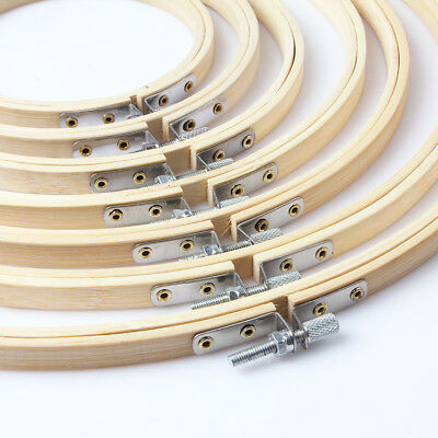5pcs Elbesee Bamboo Embroidery Cross Stitch Hoops Hand Tool 13-34CM Wood Set
