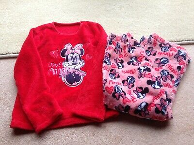 Girls Minnie Mouse Red Pyjamas Age 6-7 Years From George