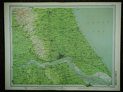 1903 Map ~ Hull Hornsea River Humber East Riding Beverley Great Grimsby Villages