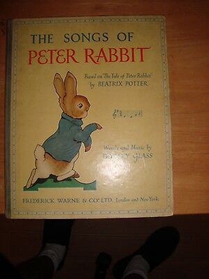 @@@@ The Songs Of Peter Rabbit 1st Edition Children's Book Music 1951 VGC @@@@