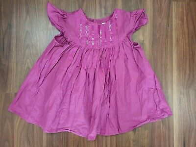 Marks And Spencer M&S Autograph Purple Short Sleeved Dress 4-5 Years 110 Cm
