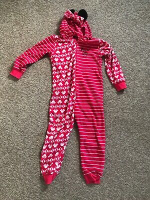 Disney Minnie Mouse All In One Sleep Suit Age 6-7 Years