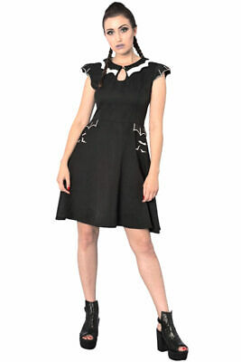 Tell The Story Herzmuster Bordeaux Banned Retro Vintage Rockabilly Minikleid