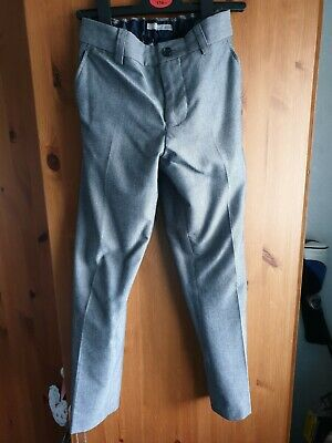Next Signature Boys Grey Trousers Age 8