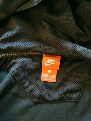Junior boys Nike Air Max black hoodie size L.12 - 13 years. Small pull in front.
