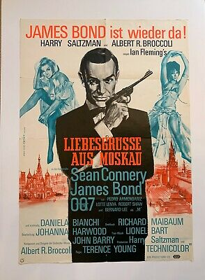 Rare Vintage James Bond Film Poster - From Russia With Love -  German version