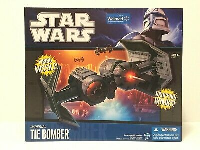 Hasbro Star wars Imperial Tie Bomber Wal-Mart Exclusive New In Box
