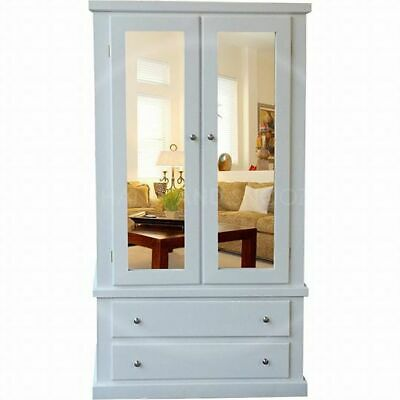 Handmade Dewsbury Double Mirrored Wardrobe In White, Many Colours (Assembled)