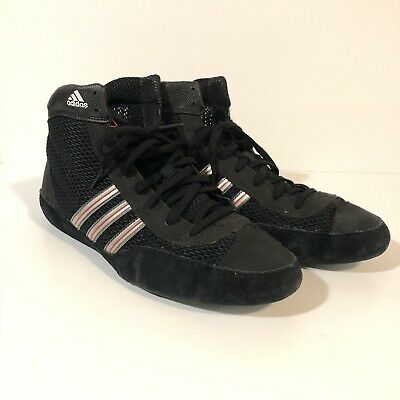 Adidas Combat Speed 3.0 Wrestling Shoes SZ 8.5 Black And Red G17568 MMA Boxing