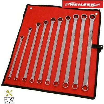 10-Piece Aviation Ratchet Spanner Wrench Set Extra Long Double Ring Gear CT4465