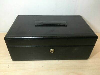 clean antique leather on wood small dispatch document letter box / desk case