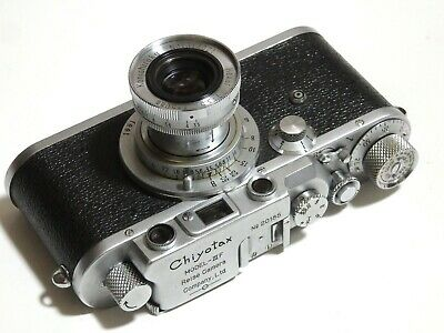 【EX+ Fully working!】1955 Chiyoda Shokai Japan Chiyotax IIIf 24x36mm Leica copy!