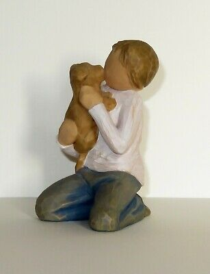 Willow Tree Figurine - Kindness - Boy with puppy dog - Very Good Condition