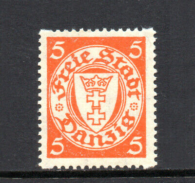 DANZIG 1924-1938 State Arms in Oval 5Pf Interrupted Perf Fine MINT NH SG.178 d