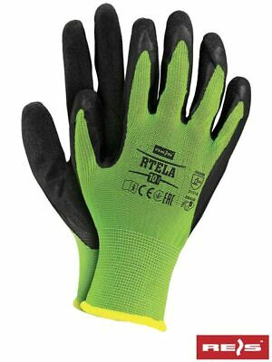 1,6 or 12 PAIRS OF NEW LATEX COATED WORK GLOVES CONSTRUCTION GARDENING BUILDERS