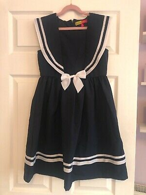 Penelope Mack Girls Navy Sailor Dress - Age 12 Dressing Up - Excellent Condition