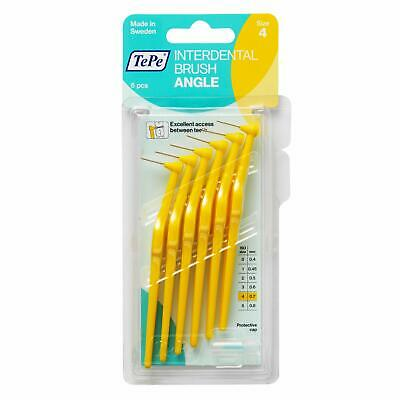 TePe Angled Interdental Brush Pack of 6 - Size 0.7mm Yellow