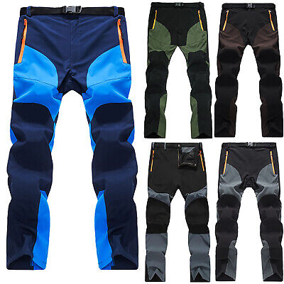 Men Soft Shell Outdoor Trousers Thick Sugan Velvet Hiking Spot Pants Waterproof