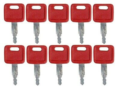 10 PCS Compatible with H800 Keys for Hitachi John Deere Excavator Case Dozer Fiat New Holland AT194969 AT147803