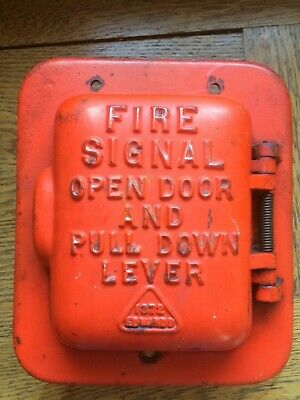Antique Cast Iron Edwards Fire Alarm Pull Station