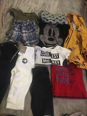 Baby Boys 9-12 Month Next Mickey Mouse Bundle Jeans Tops Jacket