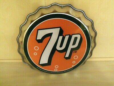 7-UP Logo Pop Soda Store Advertising Metal Tin Sign Retro Store Bar Wall Hang12""