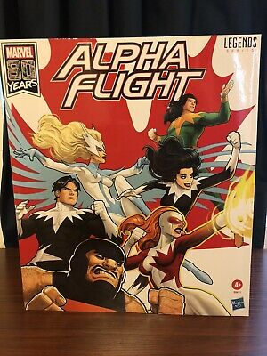 MARVEL LEGENDS SERIES 6 INCH ALPHA FLIGHT 6 Pack In Hand