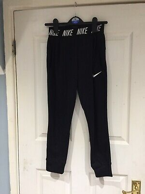 Girl's Age 10-11 Years Black Nike Jogging Bottoms