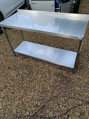 1 X Commercial Kitchen Stainless Steel Large Work Prep Table Bench -