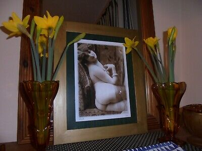 art deco style sepia WALL print in frame glamour photo