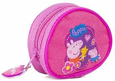 DISNEY Pink Peppa Pig AROUND Clip On Girls Purse Wallet Coin
