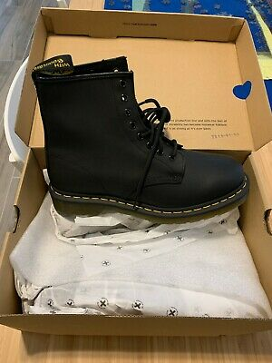 Dr. Martens, 1460 8eye Black (Greasy) Boots US Womens Size 9 Mens Size 8