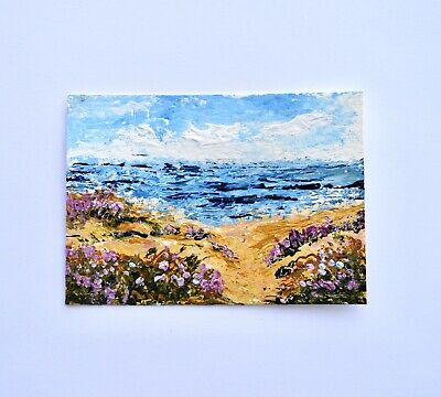miniature artwork 2.5x3.5 print of painting Cinque Terre Aceo art card