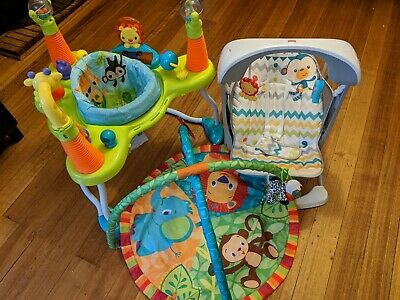 Baby Swing Rocker, Activity Centre, And Play Mat