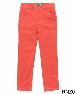 New Quiksilver Boys Krandy Straight Tapered Chinos Baked Apple EQBNP03024 14 Yrs