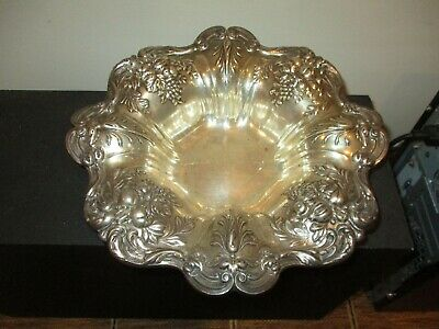 Antique Reed & Barton Sterling Silver .925 X569 Francis I Bowl Grape 1.4 Lbs
